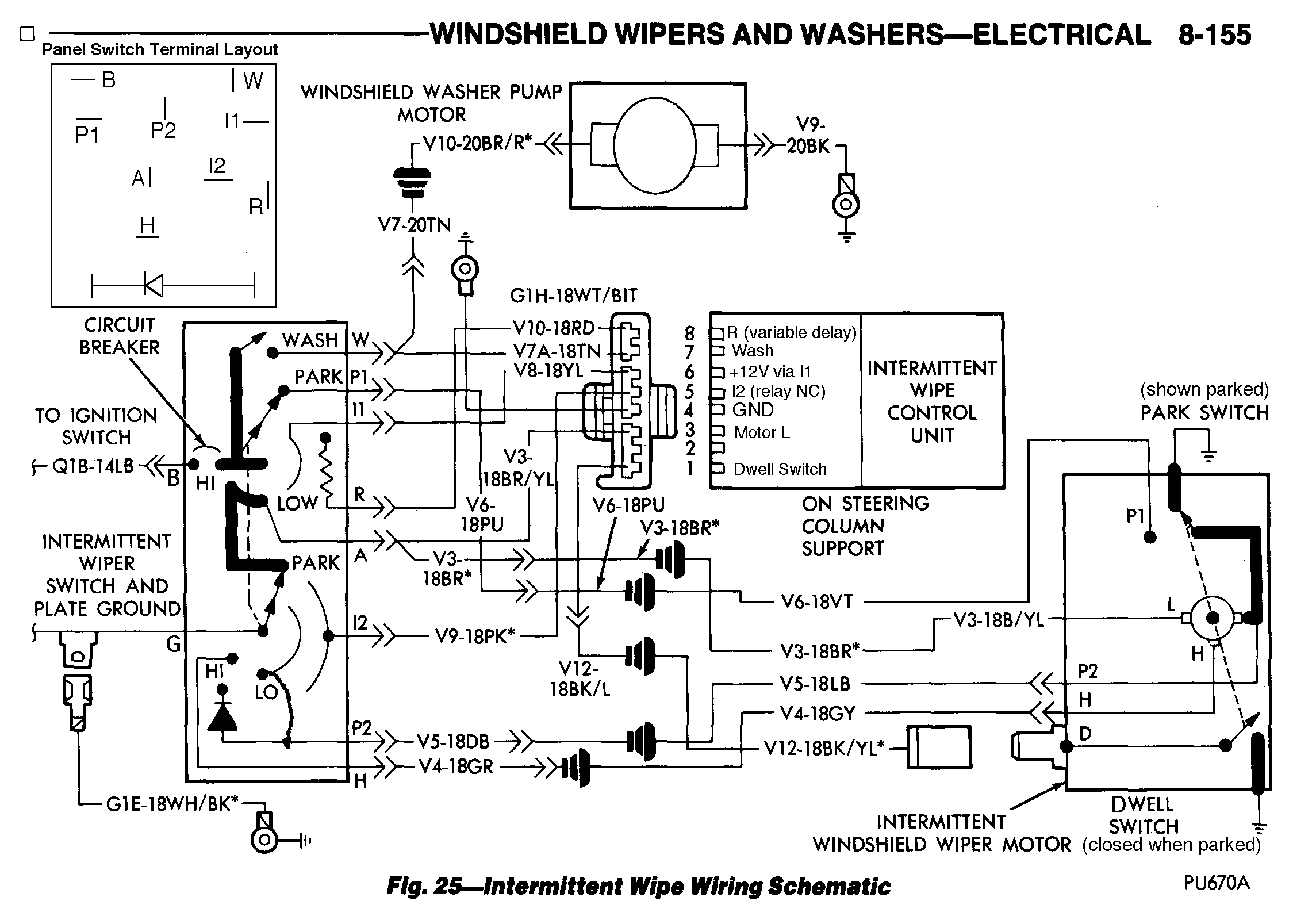 Mopar Wiper Switch Wiring Diagram Free For You Painless Wipers Chrysler Intermittent Delay Fix Chevy Motor
