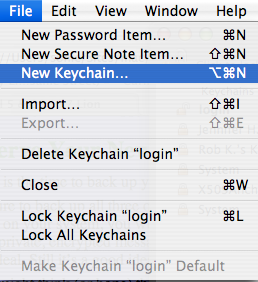 how to find keychain in mac osierra