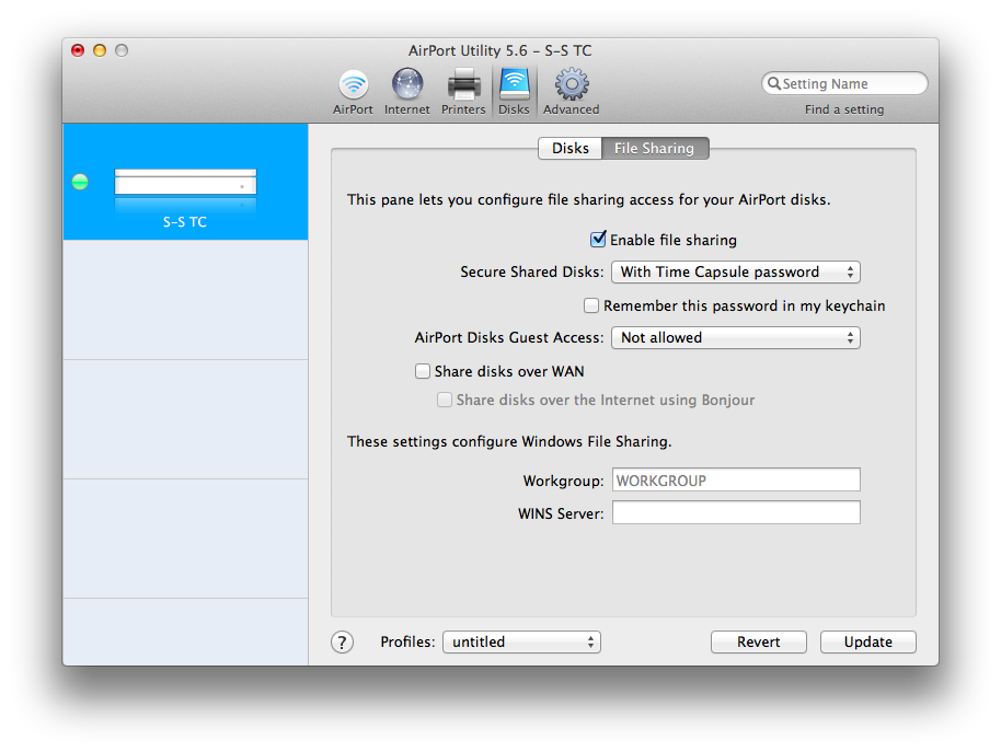 apple time capsule windows software