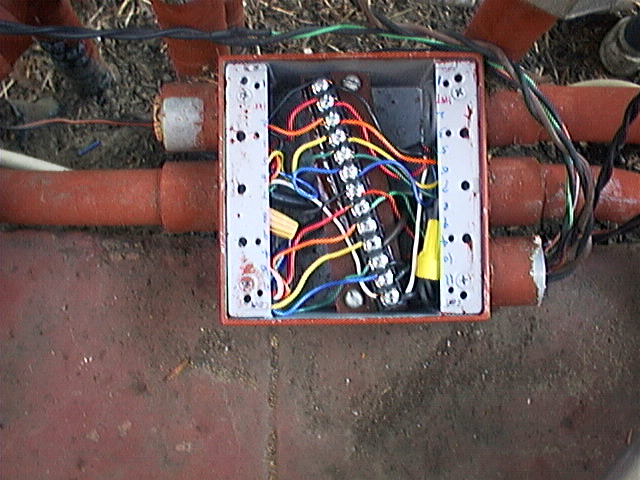 irrigation electrical system controller wiring wiring sprinkler system Wiring Sprinkler System patio junction box overview patio junction box closeup