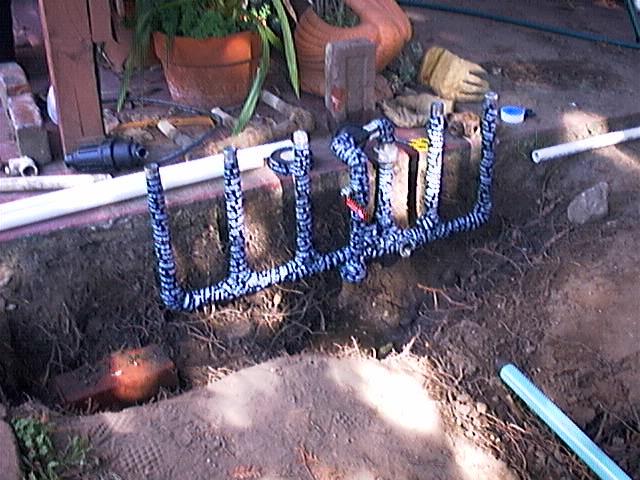 Installing The New Sprinkler Systems Valves